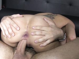 Dick Riding Girl Takes An Anal Pounding From Him