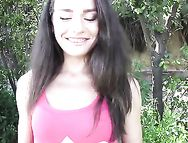 Public Quickie With This Slutty Brunette Teenager