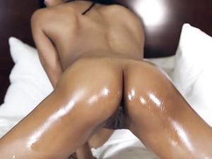Thick Cock Is What Pleasures Her Wet Black Pussy