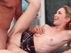 Flexible Schoolgirl Used Like A Sex Toy