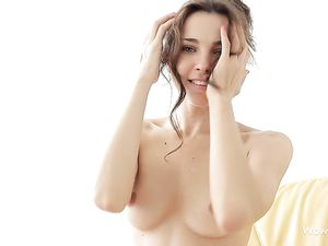Perfect Perky Breasts Solo Brunette Beauty