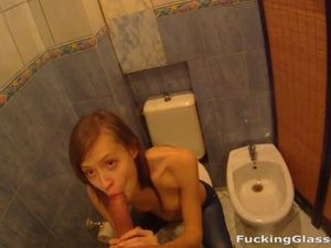 Sneaking To The Bathroom For A Public Blowjob