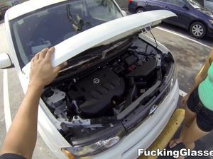 Helping Out A Hottie With Car Trouble And Fucking Her