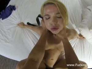 Choking And Fucking A Petite Blonde Hooker