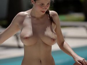 Sexy Poolside Cock Riding With Buxom Connie Carter