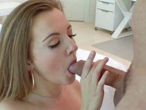 Sexy Dick Swallowing Teen Takes A Hot Facial