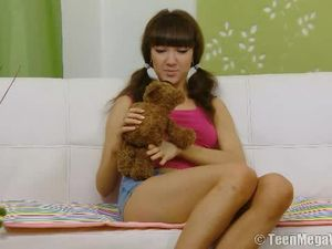 Teen Loves Her Teddy Bear And His Big Cock