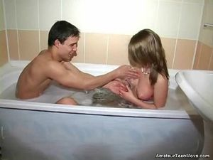 Teen Blowjob From The Beauty In The Bathtub