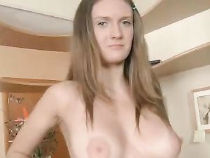 Busty Brunette Getting Rammed In Doggy Style