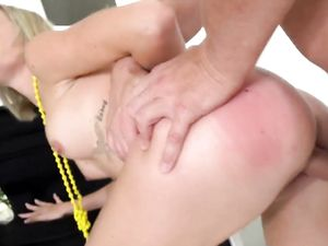 Blonde Teen Giving Head And Fucking A Big Dong