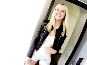Young Blonde Babe Enjoys Sucking And Fucking
