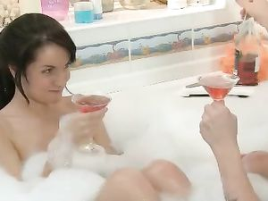Young Couple Having Sexy Time In The Bathtub