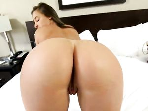 Brunette Angel Riding A Long Cock In Her Bedroom