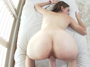 Teen With Glasses Enjoys Fucking And Sucking