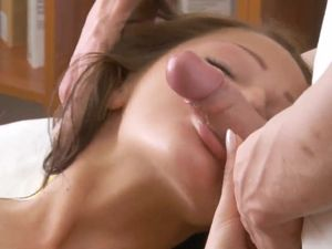 Teen On Her Hands And Knees Takes A Cumshot