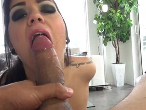 Cum Swallowing Tattooed Girl Likes His Load