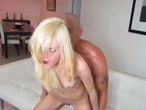 Slamming Dick Into A Petite Blonde Teen Slut