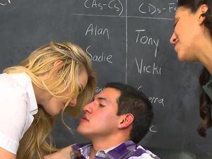 Voyeur Schoolgirl Watches Her Friend Ride A Dick