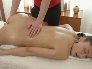 Busty Massage Babe Covered In Oil And Eager For Cock