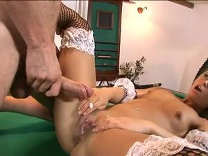 Cumming On The Maids Pussy After A Blazing Hot Fuck