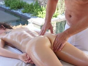 Young Beauty On His Massage Table Loves Big Cock Sex