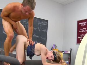 Skinny Schoolgirl Beauty And A Classmate Fuck Wildly
