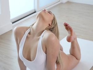 Yoga Babe Strips From Her Leotard To Get Fucked