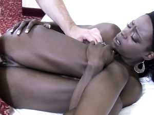 Young Black Pussy Is Creamy Fucking A White Guy