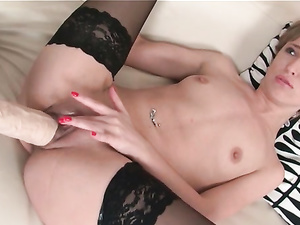 Black Stockings On Babes Having Huge Strapon Sex