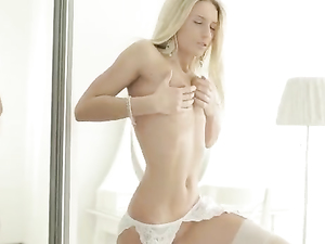 Masturbation Makes A Flawless Lingerie Girl Moan