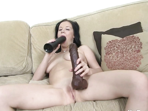 Busty Babe And Her Dildos Have Hot Solo Sex