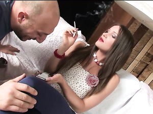 Lipstick Hottie Gets Off On Anal Cock Riding