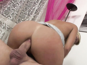 Toy Gaping Her Ass And Using His Big Cock