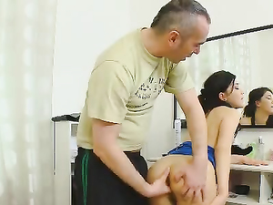 Young Legs Spread For His Old Cock To Fuck Her